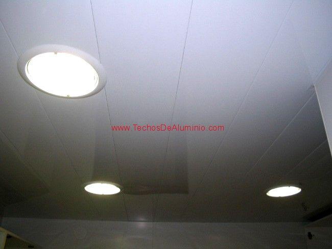 Carpintería aluminio techos registrables