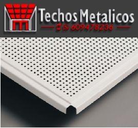 Carpinterías metálicas techos registrables