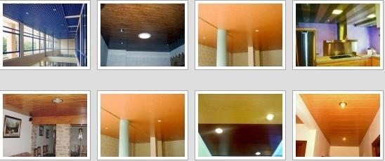 Negocio local de techos de aluminio acústicos para baños
