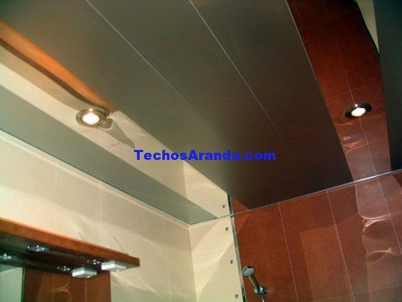 Empresa local de techos de aluminio acústicos decorativos para baños