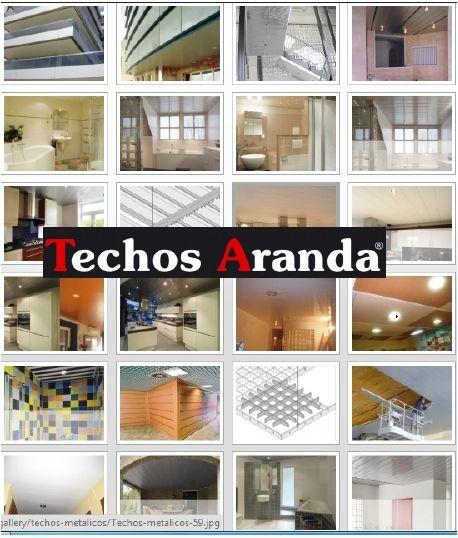Empresa venta techos de aluminio registrables decorativos