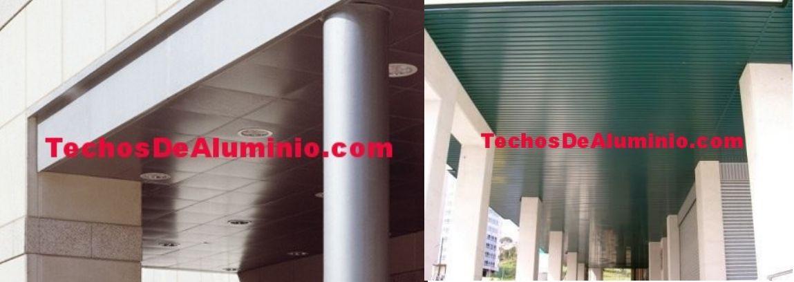 Especialistas lamas techos aluminio registrables decorativos