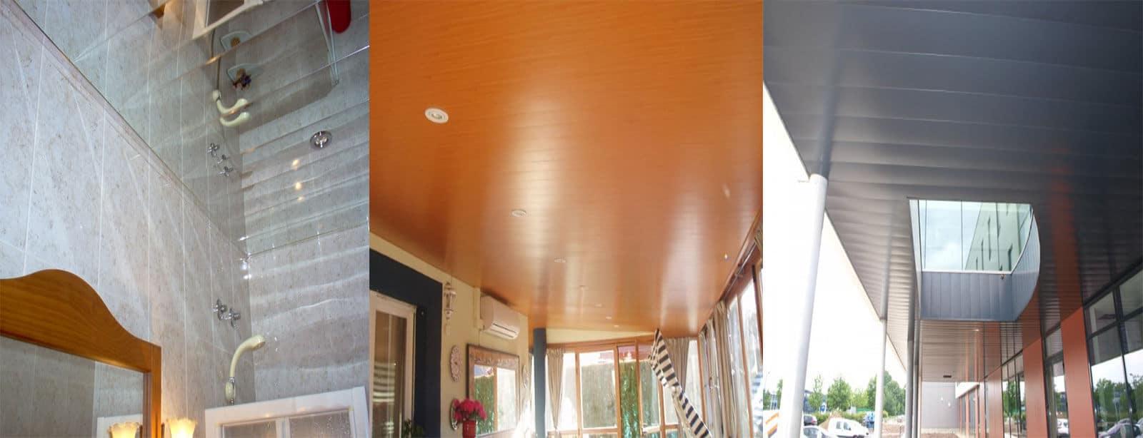 Foto de techos de aluminio registrables decorativos para baños