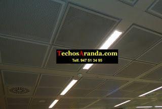 Fotografia de falsos techos aluminio acústicos decorativos