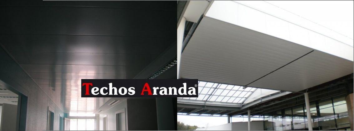 Fotografia de falsos techos aluminio desmontables decorativos