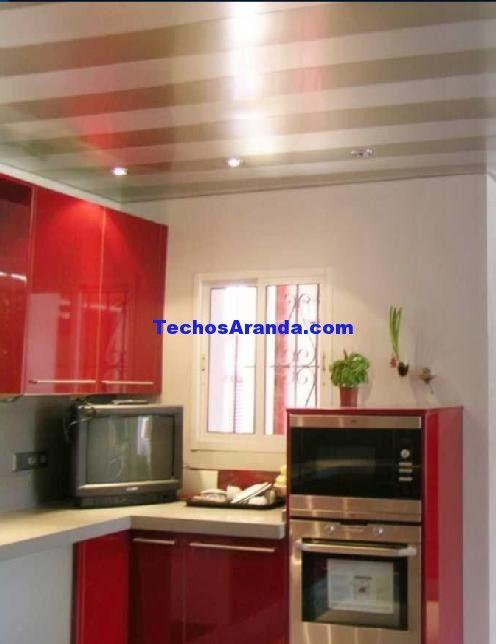 Fotografia de techos de aluminio acústicos para cocinas