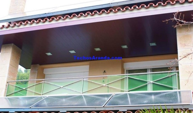 Fotos de montajes de techos de aluminio acústicos decorativos