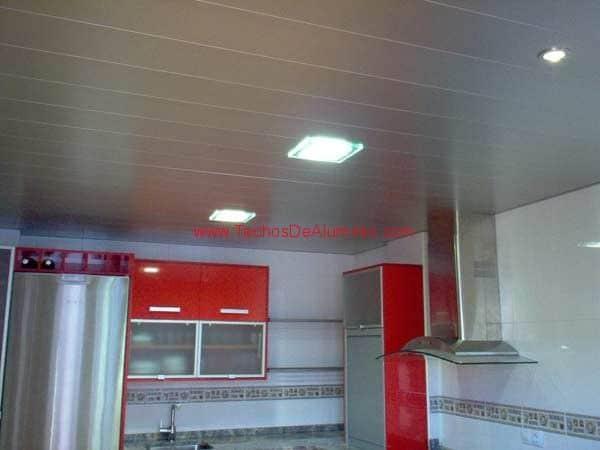 Imagen de techo de aluminio acústico decorativo para cocina