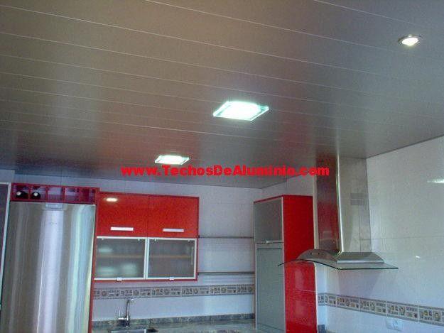 Imagen de techos de aluminio acústicos para cocinas