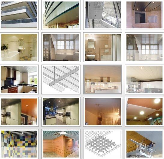 Imágenes de techos de aluminio acústicos para cocinas