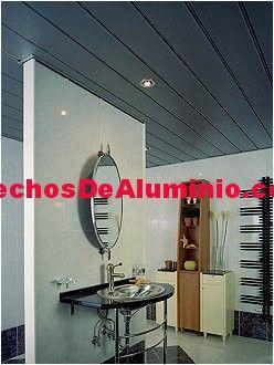 Imágenes de techos de aluminio registrables decorativos para baños