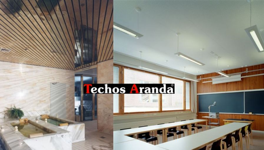 Instalaciones techos aluminio desmontables decorativos