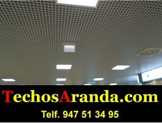 Negocios locales montaje techos aluminio acústicos decorativos