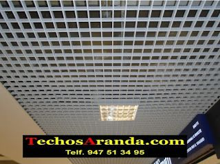 Oferta de falsos techos aluminio acústicos decorativos
