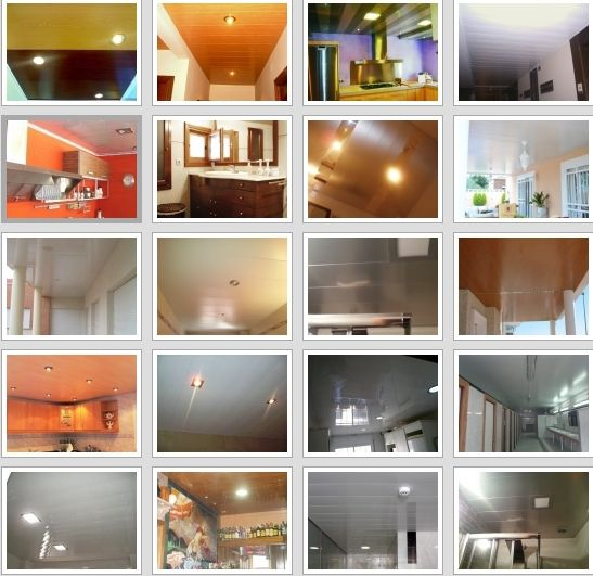 Oferta de montaje techos aluminio registrables decorativos