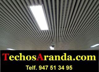 Oferta económica montaje techos aluminio acústicos decorativos