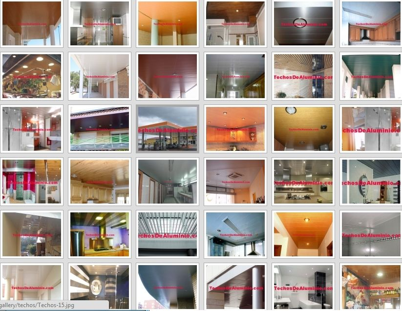 Pagina web de falsos techos aluminio acústicos decorativos