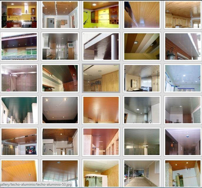 Pagina web techos de aluminio registrables decorativos