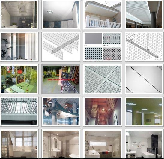 Precio de techos de aluminio registrables decorativos