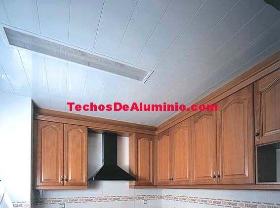 Precio económico techos de aluminio acústicos decorativos para cocinas