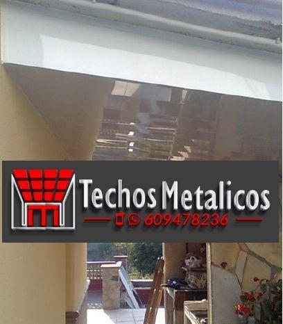 Precio montadores techos de aluminio lacados