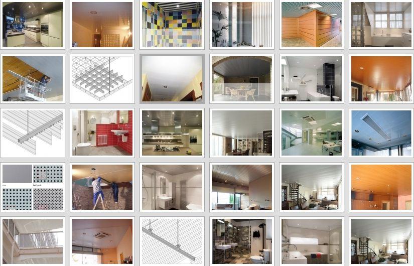 Precio techos de aluminio acústicos decorativos para cocinas