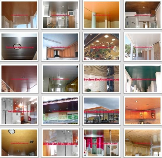 Precios techos de aluminio acústicos para cocinas