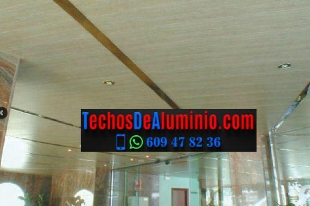 Precios económicos falsos techos aluminio lacados