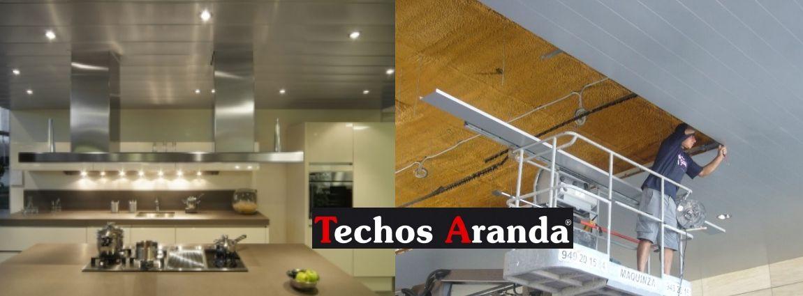 Precios económicos montajes techos aluminio registrables decorativos