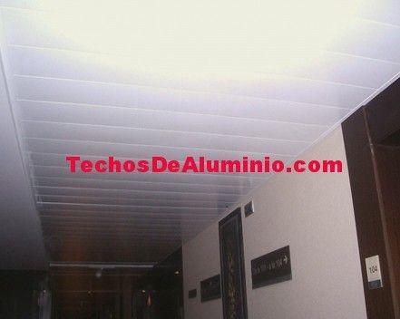 Presupuesto económico techos de aluminio registrables decorativos