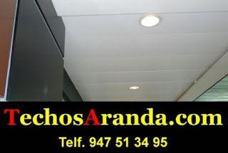 Presupuesto montaje techos de aluminio registrables decorativos