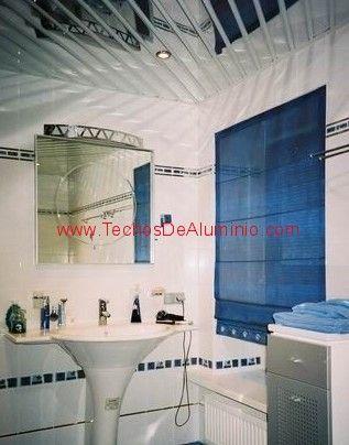 Profesional de techos de aluminio lacados para baños