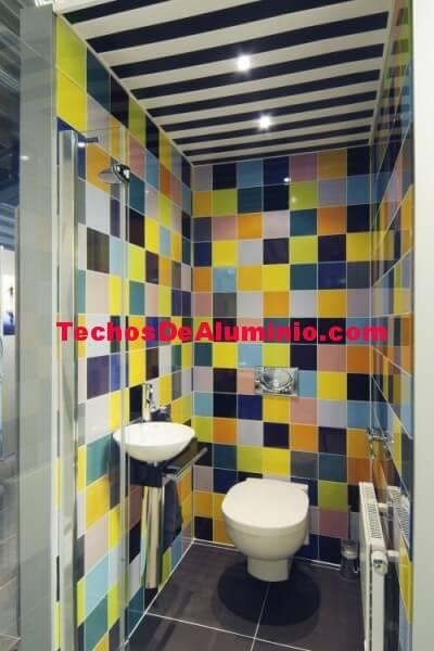 Techo aluminio desmontable decorativo baño