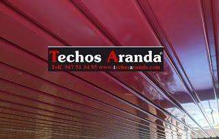 Techos de aluminio lacados para exteriores