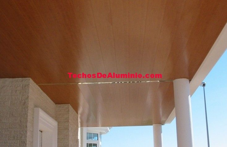 Techos de aluminio registrables decorativos para terrazas