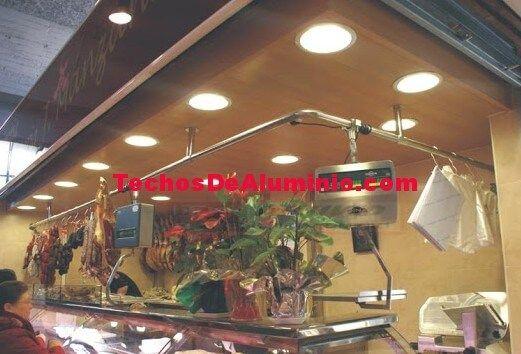 Trabajo de instaladores de techos de aluminio acústicos