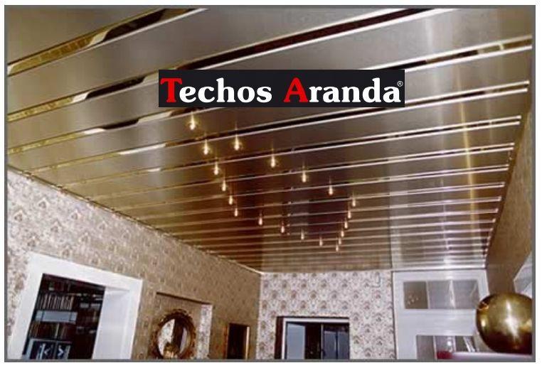 Trabajo de montaje techos aluminio desmontables decorativos