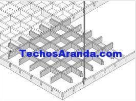 Trabajo de venta techos de aluminio desmontables decorativos