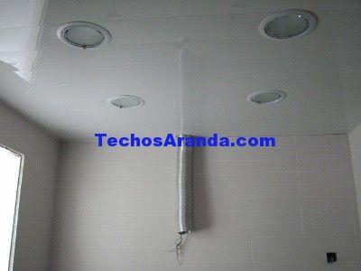 Trabajo techos de aluminio acústicos para cocinas
