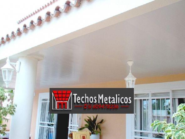 Trabajos económicos empresa techos aluminio lacados
