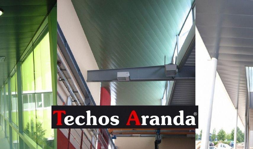 Trabajos económicos falsos techos aluminio lacados