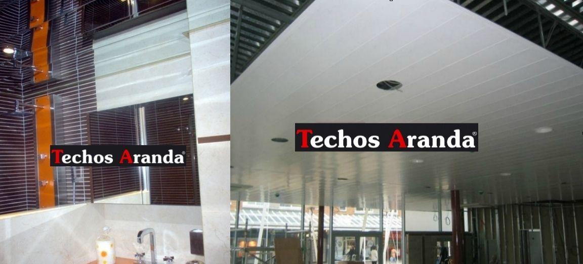 Trabajos económicos montaje techos aluminio registrables decorativos