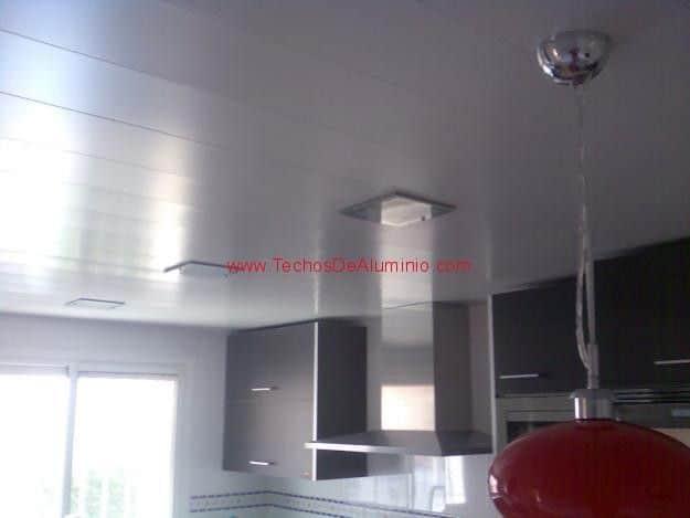 Trabajos económicos techos de aluminio lacados para cocinas