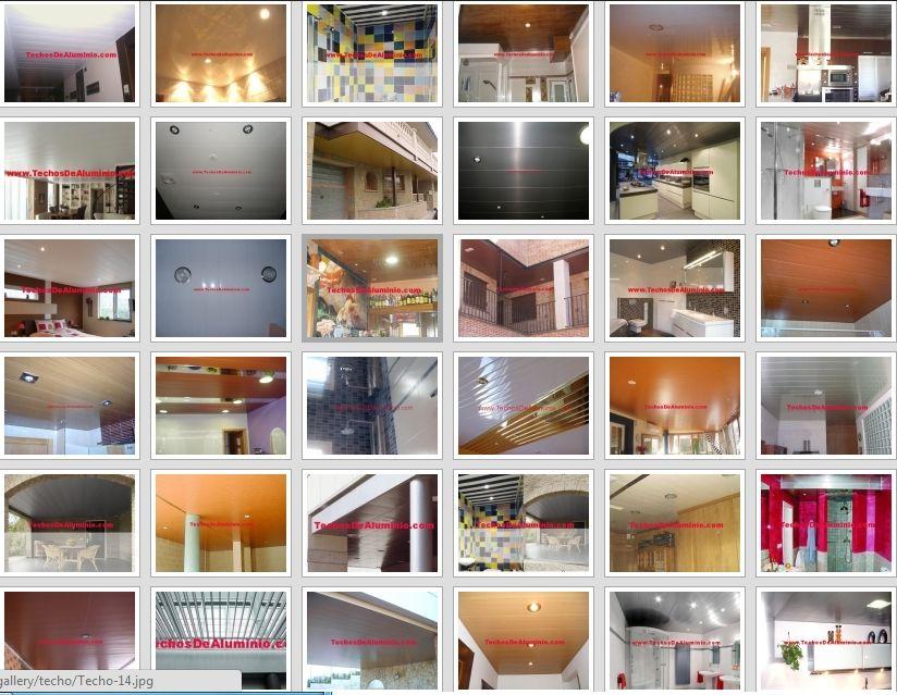 Trabajos falsos techos aluminio acústicos decorativos