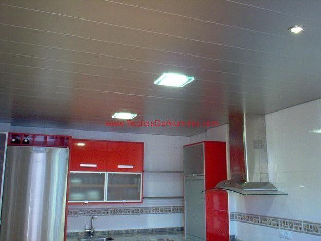 Trabajos garantizados techos de aluminio lacados para cocinas