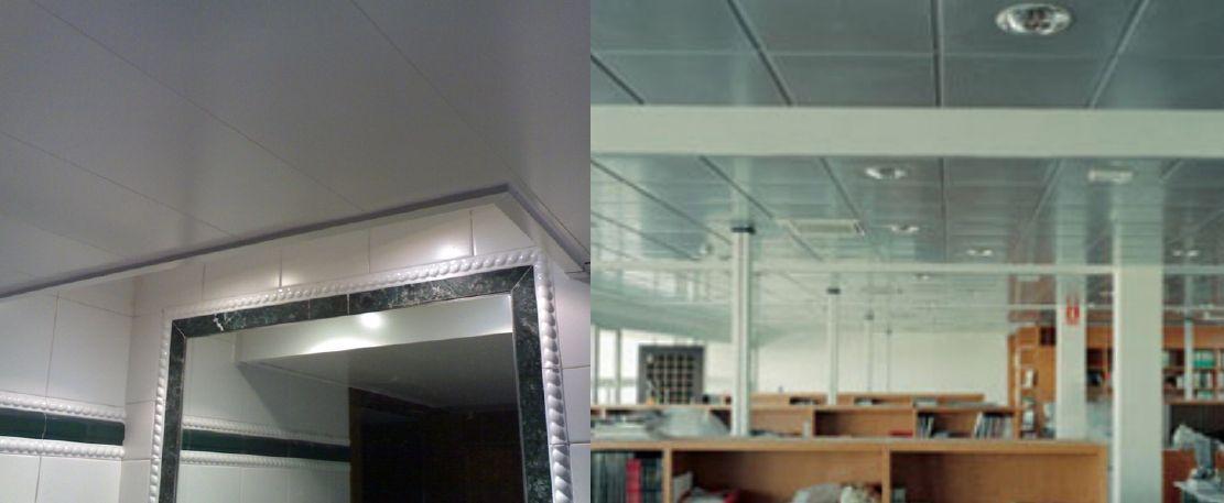 Trabajos instaladores de techos de aluminio registrables decorativos