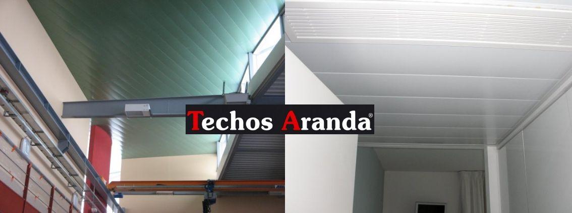 Trabajos lamas techos aluminio desmontables decorativos