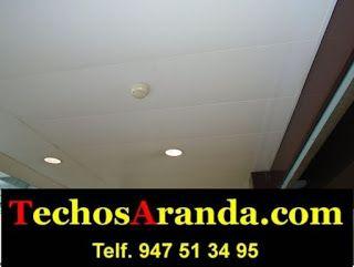 Trabajos montaje techos aluminio registrables decorativos