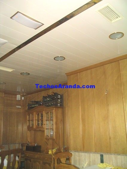 Trabajos profesionales techos de aluminio acústicos decorativos para cocinas