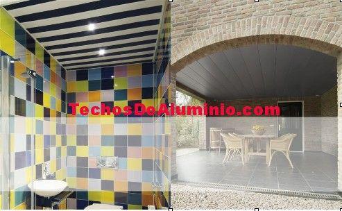 Trabajos profesionales techos de aluminio acústicos para baños